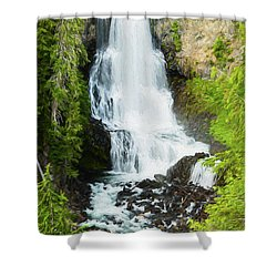 Shower Curtain featuring the photograph Alexander Falls - 2 by Stephen Stookey