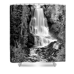 Shower Curtain featuring the photograph Alexander Falls - Bw 1 by Stephen Stookey