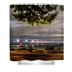 Shower Curtain featuring the photograph State Park Entrance by Onyonet  Photo Studios