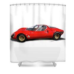 Alfa Romeo 33 Stradale 1967 Shower Curtain by Alain Jamar