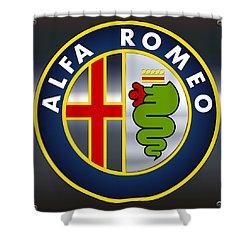 Alfa Romeo Logo Shower Curtain