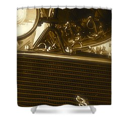 Alfa Romeo Front Grille Detail Phone Case Shower Curtain by John Colley