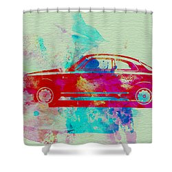 Alfa Romeo  Watercolor 2 Shower Curtain by Naxart Studio
