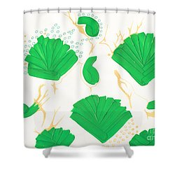 Algae Blooms Shower Curtain by Mary Mikawoz