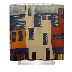 Shower Curtain featuring the painting Algiers by Don Koester