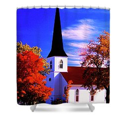 Algonquin Rd Church St Johns United  Shower Curtain