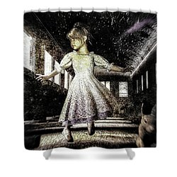 Alice And The Rabbit Shower Curtain by Bob Orsillo