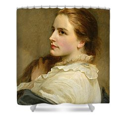 Alice Shower Curtain by Henry Tanworth Wells