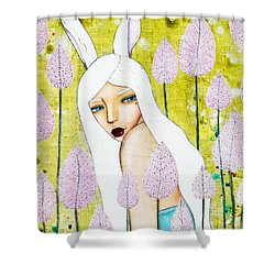 Alice In Oz Shower Curtain by Natalie Briney