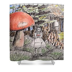 Alice In Wonderland 2 Shower Curtain by Keiko Olds