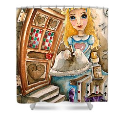 Alice In Wonderland 2 Shower Curtain by Lucia Stewart