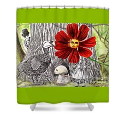 Alice In Wonderland 3 Shower Curtain by Keiko Olds