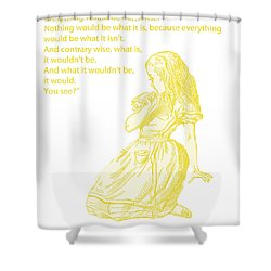 Alice In Wonderland - If I Had A World Of My Own Shower Curtain