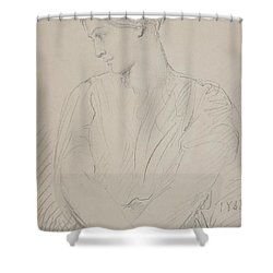 Alice Ozy Shower Curtain by Theodore Chasseriau