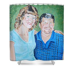 Alicia And Lee Shower Curtain by John Keaton