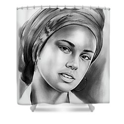 Alicia Keys 2 Shower Curtain
