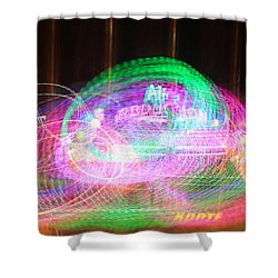 Alien Abduction Shower Curtain by Todd Breitling