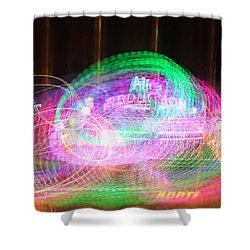 Alien Abduction Shower Curtain