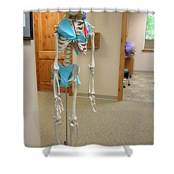 Shower Curtain featuring the photograph Alien Beyond The Door by Marie Neder