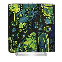 Alien Blue #2 Shower Curtain