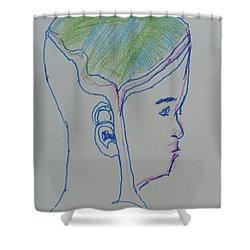 Alien Bob Shower Curtain