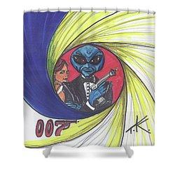 alien Bond Shower Curtain