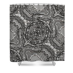 Alien Building Materials Shower Curtain