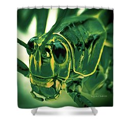 Alien Shower Curtain by DigiArt Diaries by Vicky B Fuller