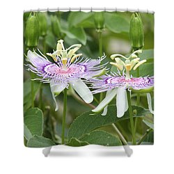 Alien Flower Shower Curtain