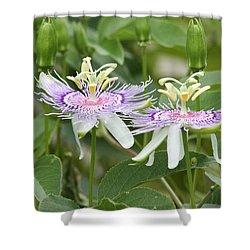 Alien Flower Shower Curtain