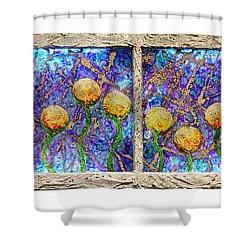 Alien Flowers Shower Curtain