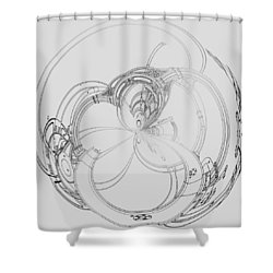 Alien Flywheel Shower Curtain