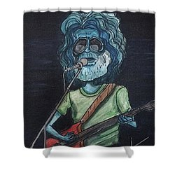 Alien Jerry Garcia Shower Curtain