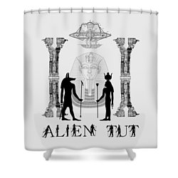 Alien King Tut Shower Curtain
