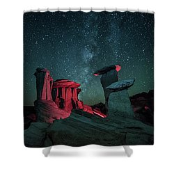 Shower Curtain featuring the photograph Alien Landscape by Brian Spencer