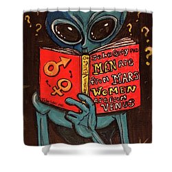 Alien Looking For Answers About Love Shower Curtain