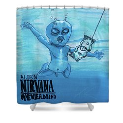 Alien Nevermind Shower Curtain