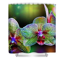 Alien Orchids Shower Curtain