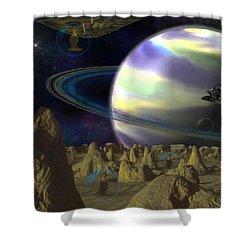Alien Repose Shower Curtain