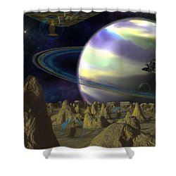 Alien Repose Shower Curtain