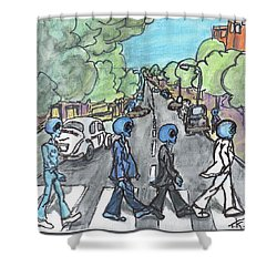 Alien Road Shower Curtain