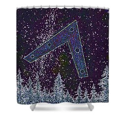 Shower Curtain featuring the painting Alien Skies Ufo by James Williamson