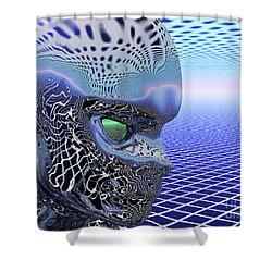 Alien Stare Shower Curtain