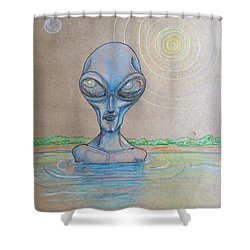 Alien Submerged Shower Curtain