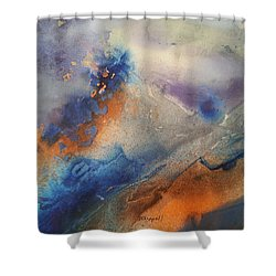 Alien Terrain Shower Curtain
