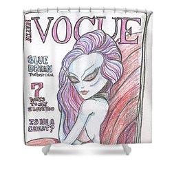 Alien Vogue Shower Curtain