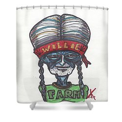 alien Willie Nelson Shower Curtain