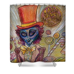 Alien Wonka And The Chocolate Factory Shower Curtain