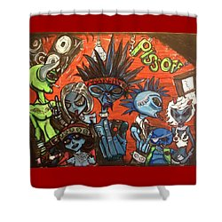 Aliens With Nefarious Intent Shower Curtain