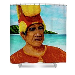 Alihi Hawaiian Name For Chief #295 Shower Curtain by Donald k Hall
